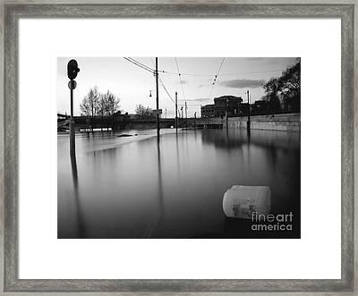 River In Street Framed Print by Odon Czintos