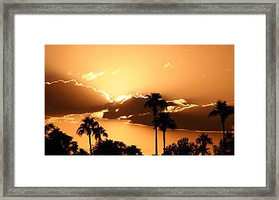 River In The Sky Framed Print