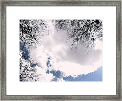 Framed Print featuring the photograph River In The Sky by Pamela Hyde Wilson