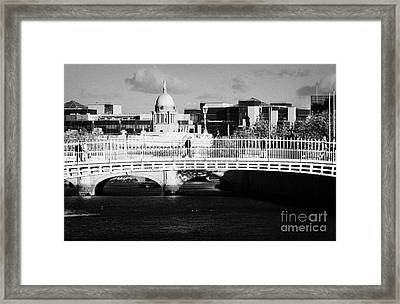 River Liffey Dublin City Center Framed Print by Joe Fox