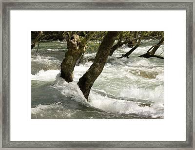 River Manavgat In Flood Framed Print by Bob Gibbons