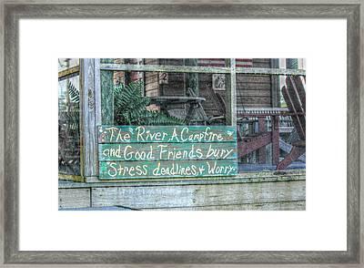 River Mantra Framed Print