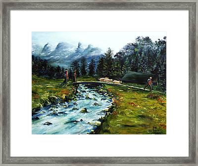 River Of Dreams Framed Print by Itzhak Richter