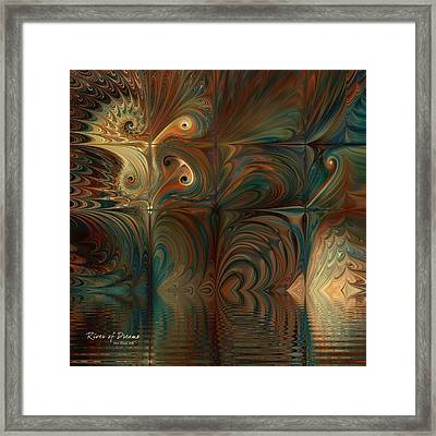 Framed Print featuring the digital art River Of Dreams by Kim Redd
