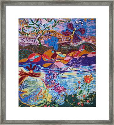 River Of Life Framed Print by Heather Hennick