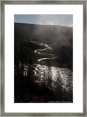 River Of Silver Framed Print by Charles Warren