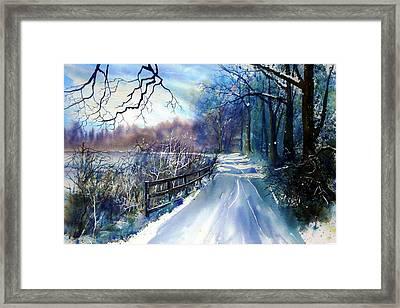 River Ouse In Winter Framed Print