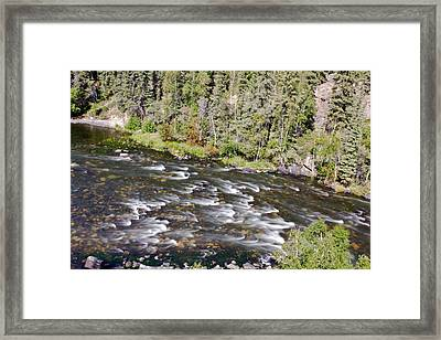 River Rapids Framed Print