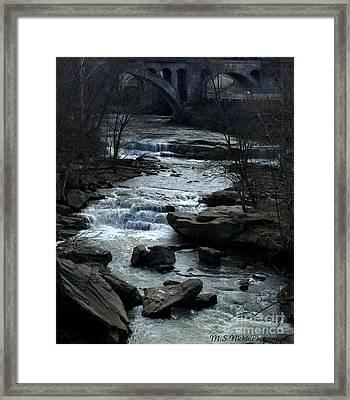 River Rapids Framed Print by Melissa Nickle