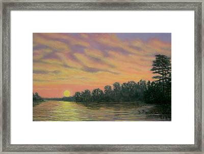 Framed Print featuring the painting River Reflections by Kathleen McDermott