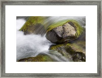 River Rocks II Framed Print by Jenna Szerlag