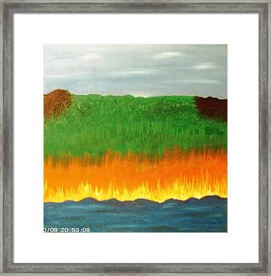 River Sambatyon Framed Print by Harris Gulko