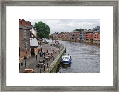 River Scene York England Framed Print by Marcus Dagan