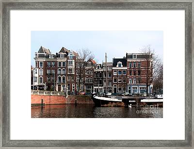 River Scenes From Amsterdam Framed Print by Carol Ailles