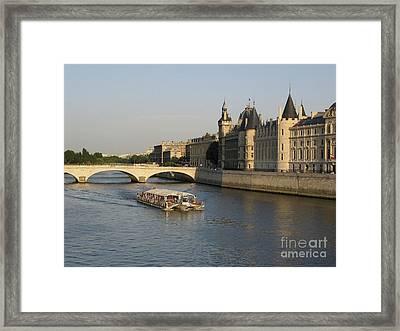 River Seine And Conciergerie. Paris Framed Print by Bernard Jaubert