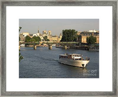 River Seine In Paris Framed Print by Bernard Jaubert