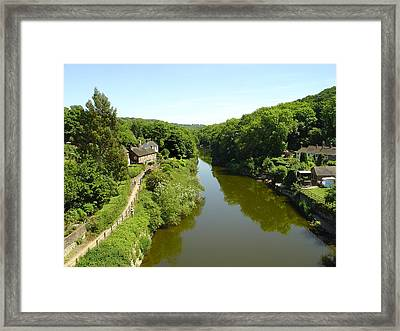 River Severn From The Iron Bridge Framed Print by Rod Johnson