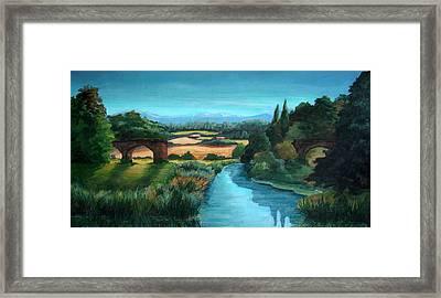 River Stour At Sturminster Newton Dorset England Framed Print by Ethel Vrana
