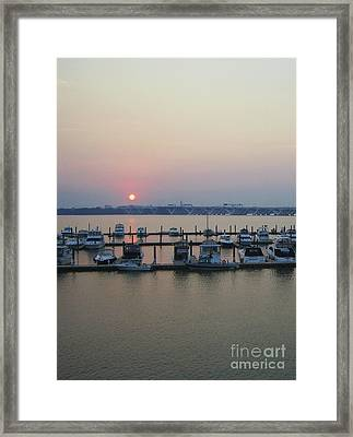 Framed Print featuring the photograph River Sunset by Michael Waters