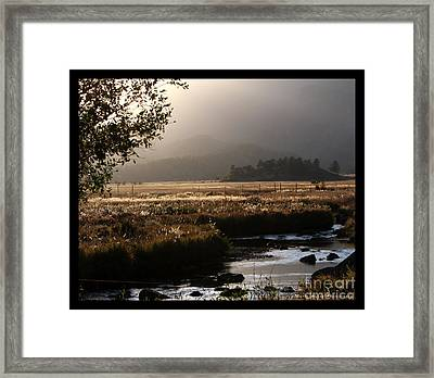 River Sunset With Border Framed Print