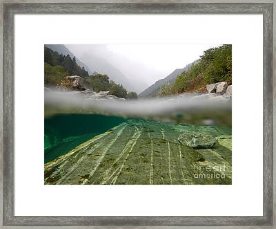 River Surface Framed Print by Mats Silvan