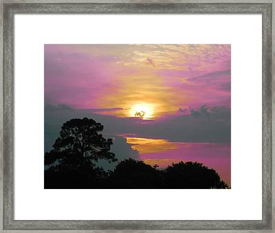 River To Heaven Framed Print by Judy Via-Wolff