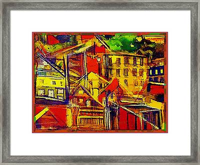 River Town In Ohio Framed Print by Mindy Newman