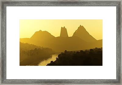 River Valley Framed Print by Svetlana Sewell