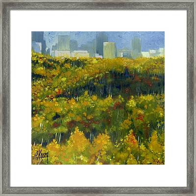 River Valley Yeg Framed Print
