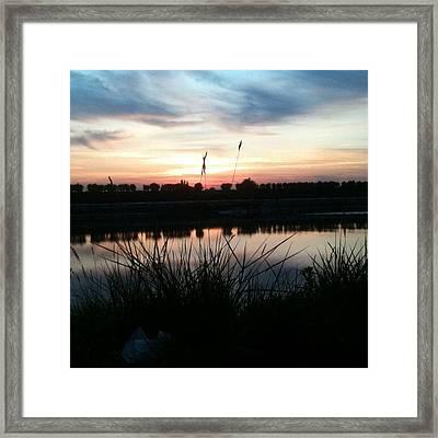 River View - No Filter Framed Print