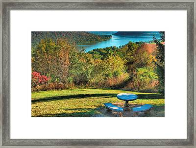 River View Iv Framed Print by Steven Ainsworth