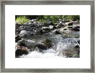 Framed Print featuring the photograph River Waterfall by Marta Alfred