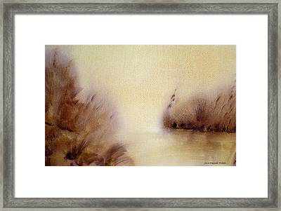 Riverbend Framed Print by Jan Deswik
