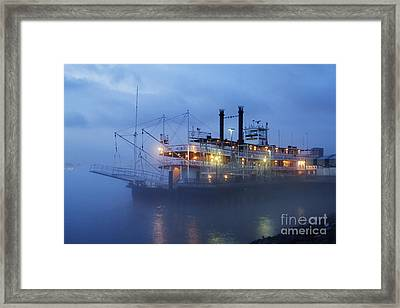Riverboat At Night Framed Print
