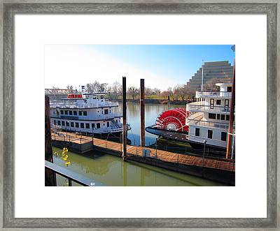 Riverboats Framed Print by Barry Jones