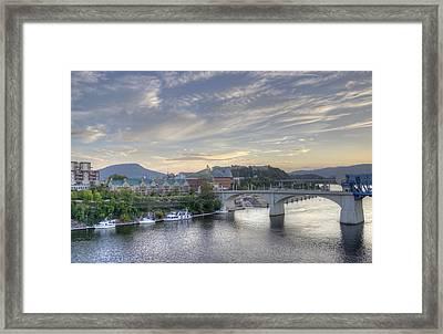 Riverfront View Framed Print