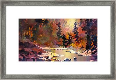 Riverglow Framed Print