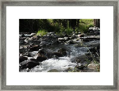 Framed Print featuring the photograph Riverrock Waterfall by Marta Alfred