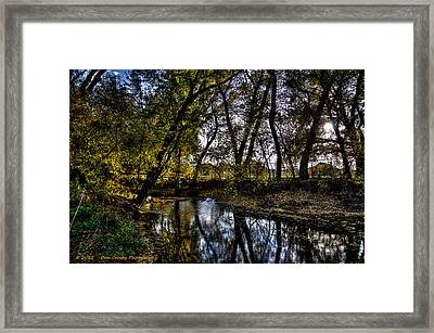 Rivers Edge Framed Print by Dan Crosby