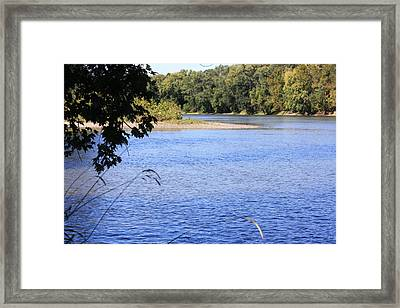 River's Island Framed Print by Devon Stewart