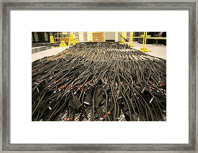 Rivers Of Cables For The Dawn Framed Print