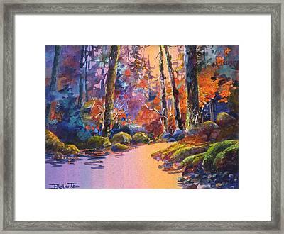 River's Palette Framed Print