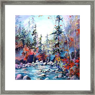 River's Rainbow Framed Print
