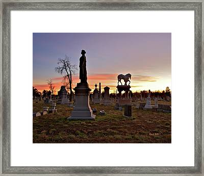 Framed Print featuring the photograph Riverside Sunset by Stephen  Johnson