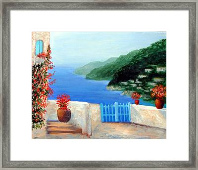 Framed Print featuring the painting Riviera by Larry Cirigliano