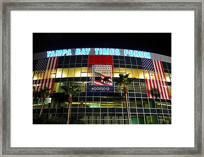 Rnc Party Forum Framed Print by David Lee Thompson