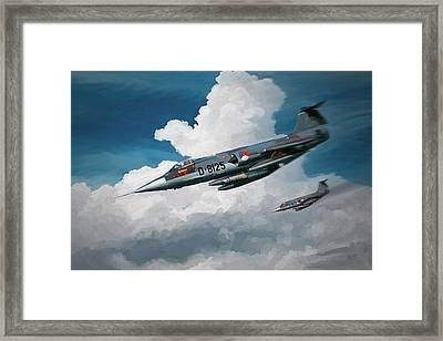 Rnlaf Lockheed F104 Starfighters On Training Framed Print