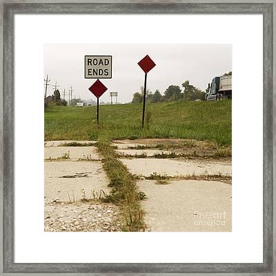 Road Ends Sign Framed Print