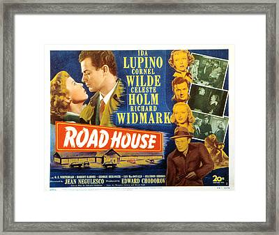 Road House, Ida Lupino, Richard Framed Print by Everett