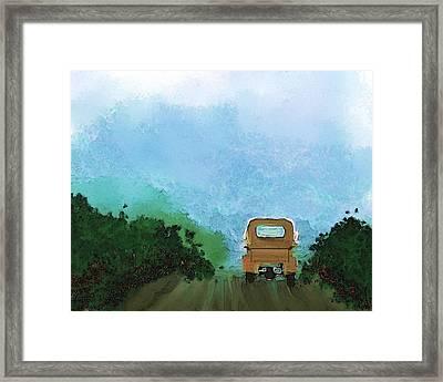 Road Framed Print by Mickey Harris